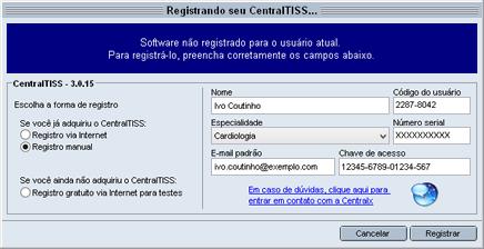 Registro manual